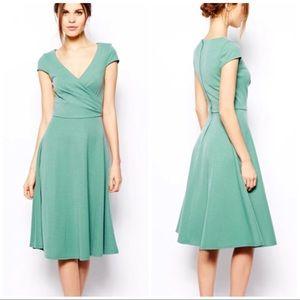 ASOS Turquoise Vintage 50's Style Midi Dress